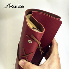 RuiZe Vintage travel journal notebook traveler notebook A5 leather kraft paper
