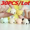 30 PCS/Lot Kawaii Slow Rising Animal Group Squishy Panda/tiger/pig/sheep/duck/rabbit/chick Phone Strap Soft Bread Cake Kids Toy