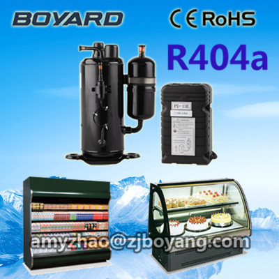 boyard rotary refrigerated cooling compressor r404a 1HP for commercial refrigeration parts boyard 12v 24v refrigeration compressor for car minibar