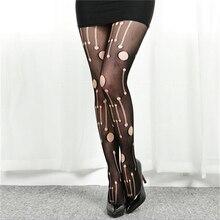 2016 Hot Fashion Women Sexy Black Fishnet Pattern Jacquard Calcetines Leg Warmers Stockings Pantyhose  NB129