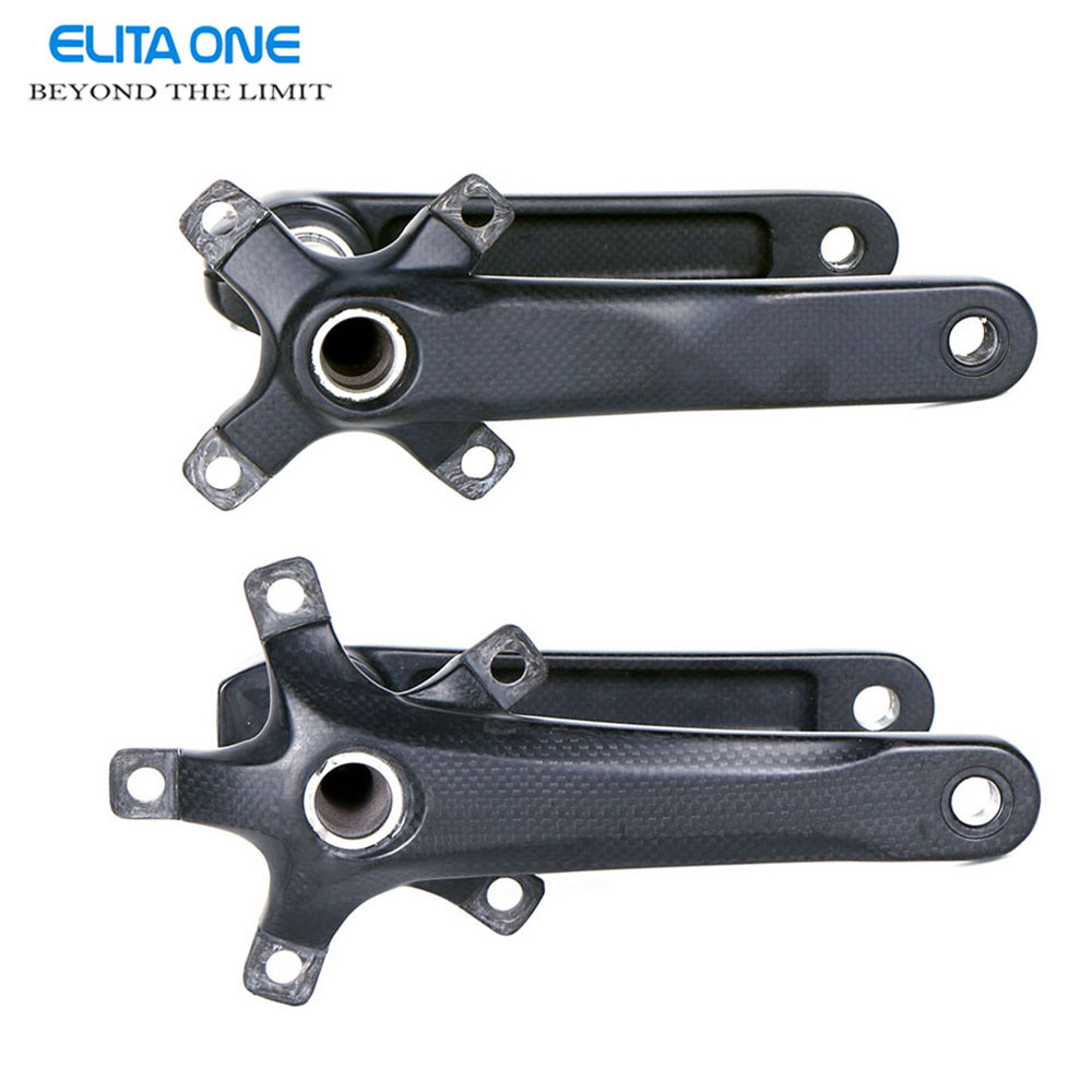 Full Carbon Fiber Cycling Bicycle Crank MTB Road Bike Crankset Length 170mm/175mm BCD 110/130mm Ultra-light Mountain Bike Parts купить