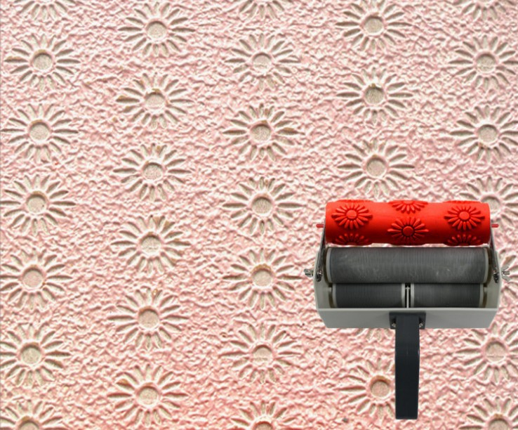 de parede de 7 polegada rolo de textura 124