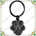 Keychain CMK2019 Stainless Steel Key chain Memorial Ashes Pet Paw Prints Charm Cremation Urn Keepsake Black Plating