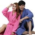 Amantes adulto 100% algodão Terry Roupões de banho de algodão 100% toweled bathoses espessamento absorvente
