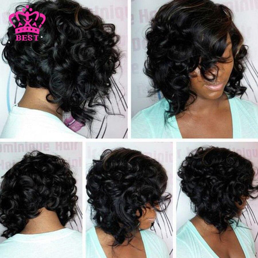 brazilian short bob wigs full lace human hiar wigs