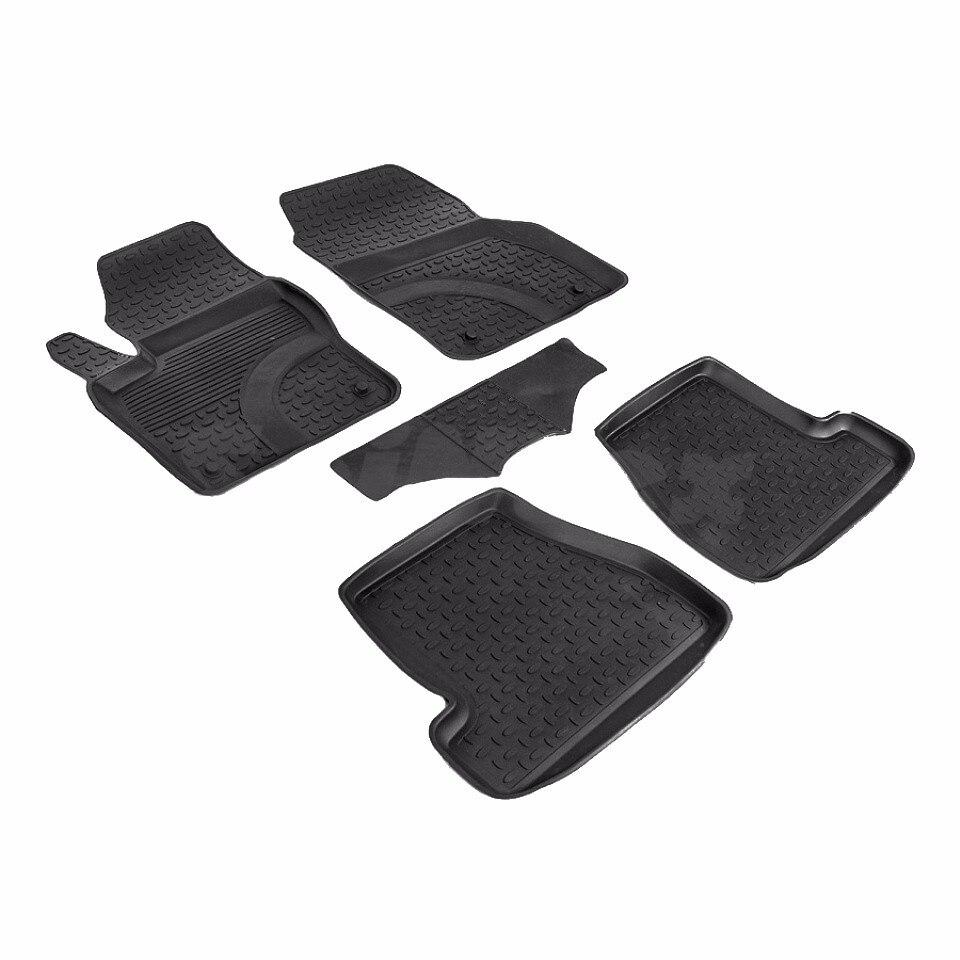 Rubber floor mats for Ford Focus 3 Restyling 2015 2016 2017 2018 Seintex 87143 цены