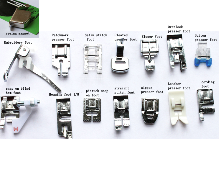Wholesale Free Shipping 40pcs Multifunction Household Electric Gorgeous Types Of Sewing Machine Feet