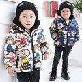 Зимние куртки мальчиков хлопок камуфляж мальчиков парки 2 цвета мальчики толстовки 1-4 лет дети одежда дети ветрозащитный пальто