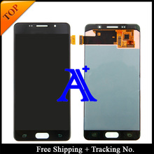 Free Shipping 100% tested original For Samsung Galaxy A5 A510F A510M A510FD A5100 A510Y 2016 LCD Digitizer Assembly -White/Black