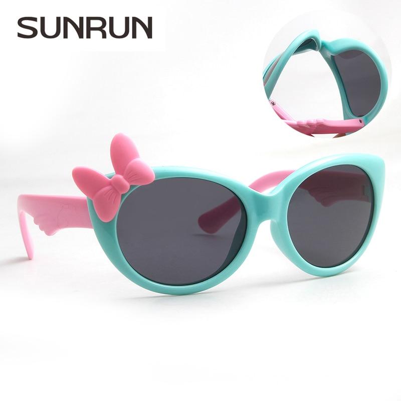 Sunrun new kids crianças quadro tr90 óculos de sol uv400 polarizada óculos de bebê das meninas do menino bonito fresco eyewear óculos s888