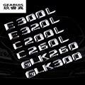 Car Sticker SLK fit for Benz Class Rear Decal Emblem for AMG Logo 3D Metal Badge for Mercedes Chrome Silver Trunk CLK free ship