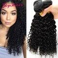 7A Peruana Kinky Curly Hair Extensions 3 Bundles Humano Increíble pelo Barato Del Pelo Peruano 3 bundles Afro Rizado Rizado Virginal pelo
