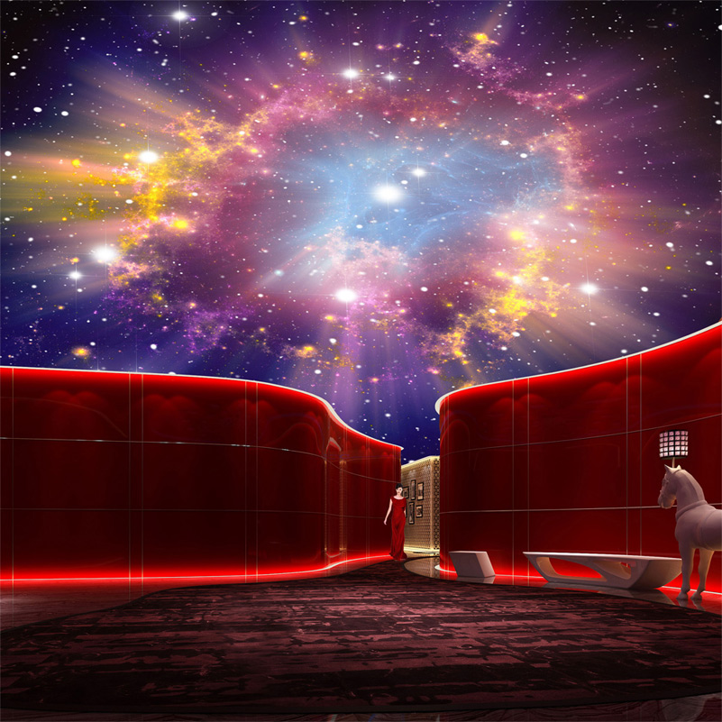 Aliexpress.com : Buy Custom Murals 3D Star Nebula Night Sky Wall ...