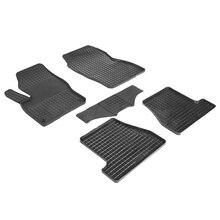 Резиновые коврики для Ford Focus 3 (2011-2014) с рисунком Сетка (Seintex 82798)