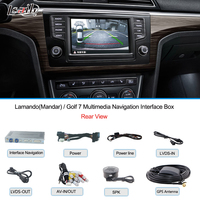 For Golf 7 Video Interface support to Additional Navigation , Video Rearview System with WINCE6.0