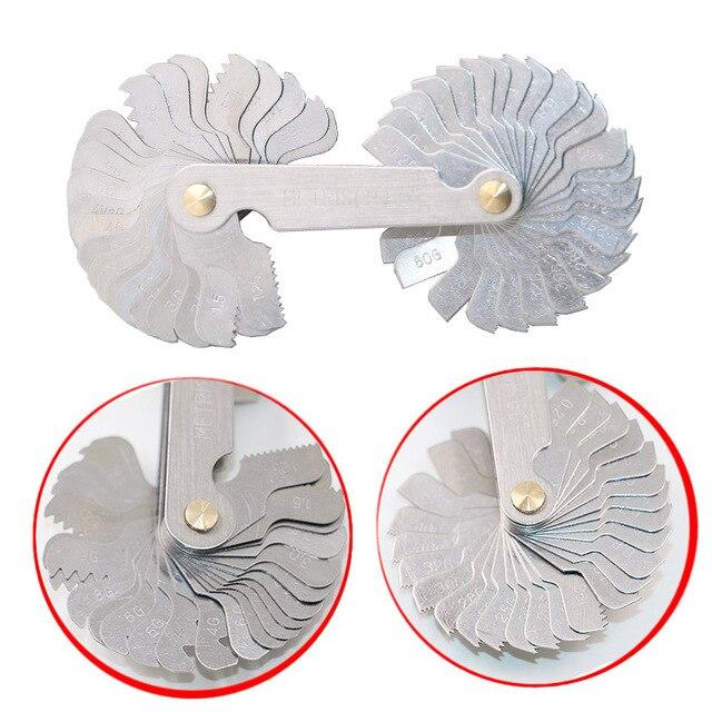 Frete grátis thread plug gage aço inoxidável passo de parafuso métrico 60 e 55 graus medidor de medição de rosca