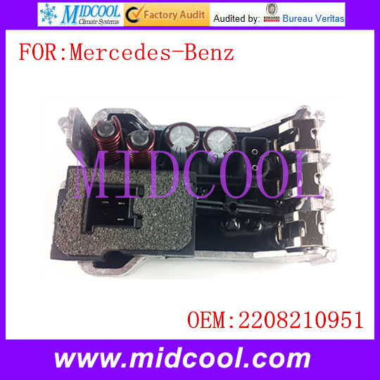 New Blower Motor Resistor Regulator use OE NO. 2208210951 for Mercedes-Benz W203 S203 W211 S211 W220