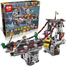 LEPIN Marvel DC Super Heroes Spiderman Bridge War legoe Building Blocks Batman Marvel Minifigures Avengers Superheroes Toys