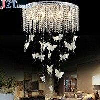 M Modern Luxury Nordic K9 Round Lustre Crystal Chandelier Ceiling Lamps Circular Vestibule Home Decorative Light