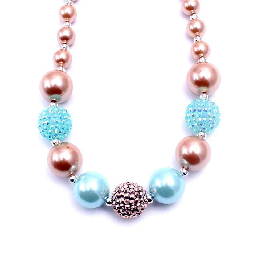 MHS. SOL 2 pcs bebê infantil colar handmade chunky bubblegum beads colar gumball crianças meninas decoração para festa BN004
