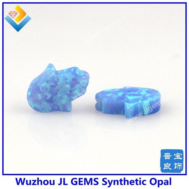 (10 шт./лот) Бесплатная доставка 8*10 мм OP06 детский голубой опал в форме руки синтетический опал Хамса драгоценные камни опалы кулон
