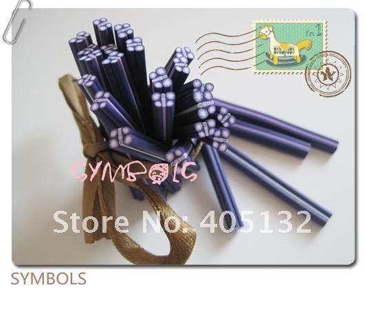 D-06,, 100 шт., 5 мм, фиолетовая форма бабочки, глиняный тростник, необычный дизайн ногтей, полимерная глина, трость