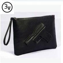 3D Print Gun Tasche Frauen Taschen 2016 Berühmte Designer Kupplung Mode Frauen Messenger Bags Damen Handtaschen Umschlag 1 teile/los