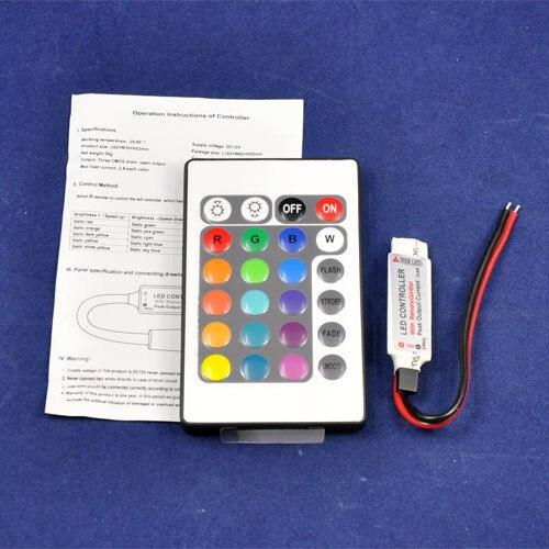 DC12 2A/канала мини светодиодный RGB Управление; с 24-кнопочный ИК-пульт дистанционного управления Управление общий anodefor RGB Светодиодные ленты жесткие осветительные SMD5050 3528