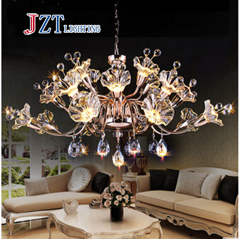 T Best Price Modern Lustre Flower Crystal Chandelier Fashion Dining Room Lamp Pandent Indoor LED Light For Bedroom In Pendant Lights From