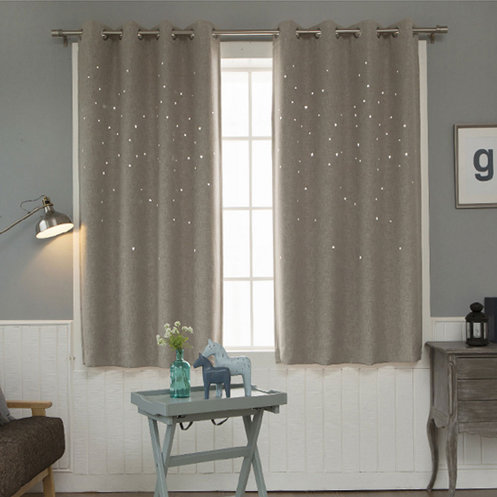 modern window curtain living room d hollow star pattern window treatmentssolid curtains for bedroom single panel (color of )in curtains from home. modern window curtain living room d hollow star pattern window