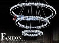 M Modern Creative European Style Luxury Living Room Lamps Restaurant Crystal Lustres LED Ring Diamond Circular
