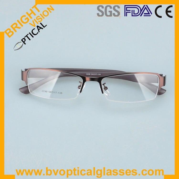 2299kahkifold Factrory price half rim vintage optical frames eyewear glasses