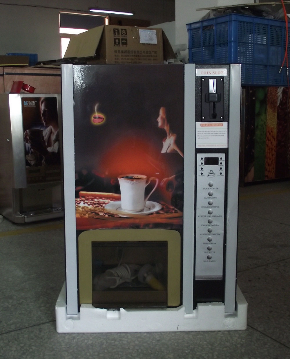 цена на Bill acceptor Coffee vending machine 7 Hot Premixed Drinks and one hot water and one cold water