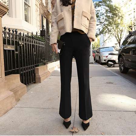 2017 Spring New Fashion Maternity Work Pants Pregnant Women Black Boot Cut Formal Trousers Office Las
