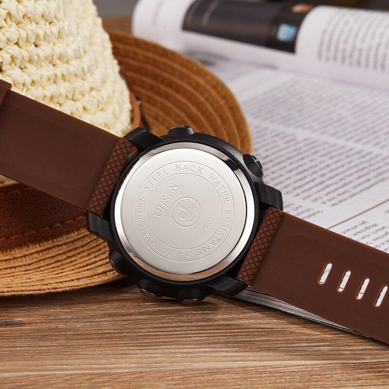 Ohsen Unisex Fecha de Alarma Simple Multi-color Hombres Reloj Digital - Relojes para hombres - foto 5