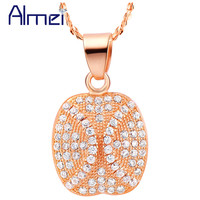 Necklace Women Gold Plated Necklace 2015 Collares Accessories 925 Sterling Silver Simulated Diamond Crystal Joyeria Ulove