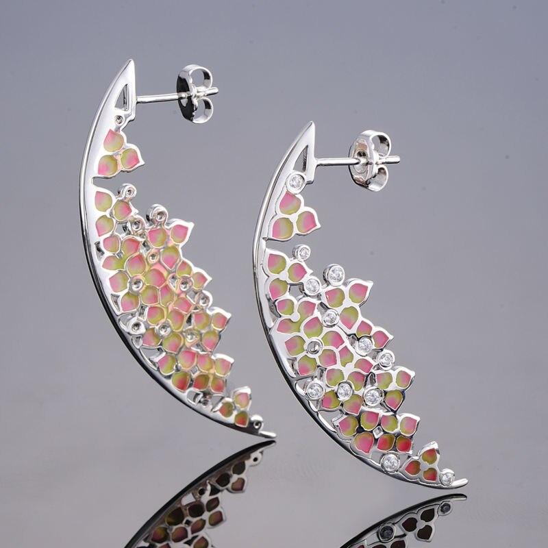 Silver Earrings  E309056ENABRW-SV3-B