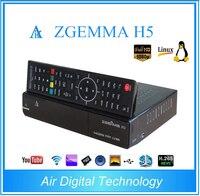 5ピース/ロットzgemma h5 linuxエニグマ2コンボレシーバ1x dvb-s2 + 1x dvb-t2/c hevc h.265セットトップボックス