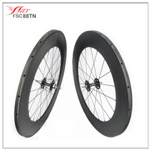 "2016 Far Sports ""N"" series high profile 88mm x 20.5mm carbon trake bicycle wheels single speed UD matt 18 months warranty"