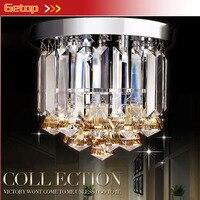 ZX Hot Sale K9 Crystal Roundness E14 LED Ceiling Lamp D23 H21 For Corridor Restaurant Living