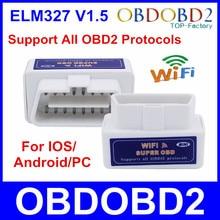 Más nuevo ELM327 Wifi ELM 327 OBD2 escáner automático para Android y IOS sistema Mini ELM327 Wifi soporte todos OBDII protocolos envío gratis