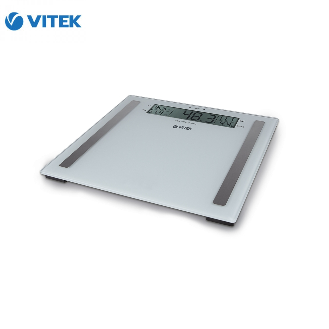 Floor scales VITEK VT 1967W e 200 kg glass-in Bathroom Scales from ...