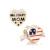 Patriótica EE.UU. Bandera Militar Mamá Del Corazón Del Esmalte 100% 925 Sterling Silver Beads Charm Adapta Pandora Charms Pulsera Europea M