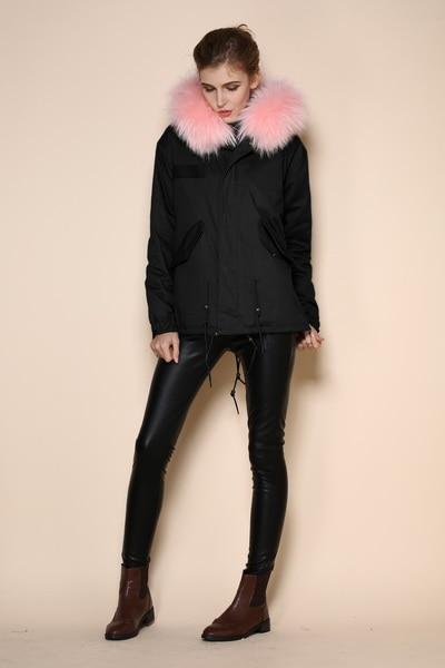 New Arrival Fashion Korean Winter Duck Jackets Cotton Fur Hooded Collar Zipper Fishtail Parka