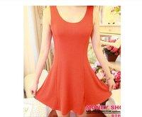 женская платье лето, сексуальное платье из хлопка, черный / оранжевый / желтый / роза. бесплатная доставка