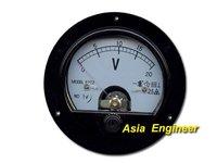 бесплатная доставка высокое качество круглый аналогии вольт метр панели постоянного тока 20 в
