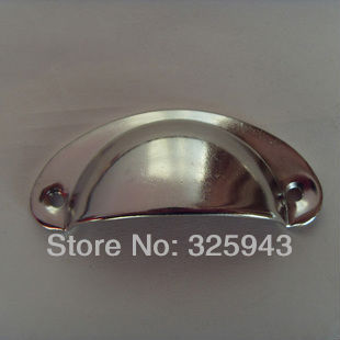 64mm Semi Circle Nickel Plated Cabinet Cupboard Hardware Door Drawer  Dresser Pulls Knobs And Handles