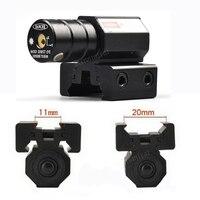 Czerwona kropka wskaźnik laserowy 50 100 metrów zasięg 635 655nm lasery widok pistolet regulowany dla 11mm 20mm Picatinny szyny w Lasery od Sport i rozrywka na