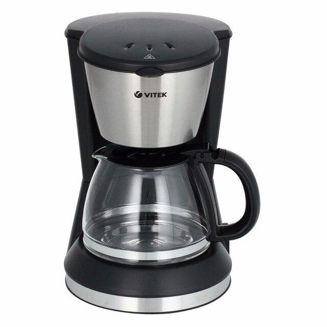 Кофеварка капельная Vitek VT-1506 BK (Мощность 550 Вт, Емкость 0,7л., автоподогрев,  Противокапельная система