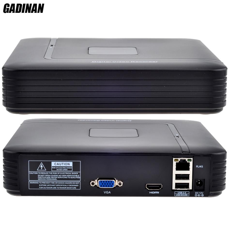 GADINAN Mini 4 Canaux NVR HDMI Sortie Autonome de Sécurité CCTV NVR 4CH 1080 P/8CH 960 P ONVIF 2.0 Pour Caméra IP Système 1080 P